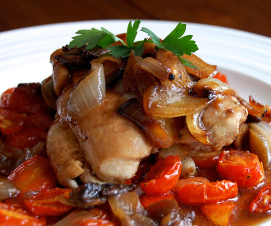 Balsamic Chicken with Roasted Tomatoes- this is one of my go-to dinners. It's absolutely delicious and even better the next day!