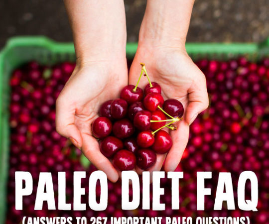 Paleo Diet FAQ- answers to 267 important Paleo questions, including an A-Z guide on what you can and cannot eat on the Paleo Diet.