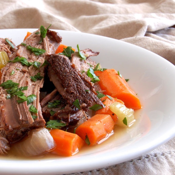 Easy Slow Cooker Pot Roast- the easiest, most flavorful pot roast.