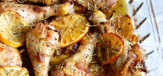 Roasted Citrus and Herb Chicken- this simple meal is quick, comforting and makes great leftovers.