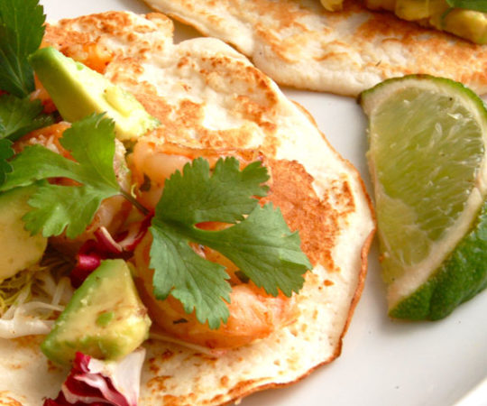Healthy Shrimp Tacos- I could eat these everyday. Very nourishing and makes you feel good after eating them.