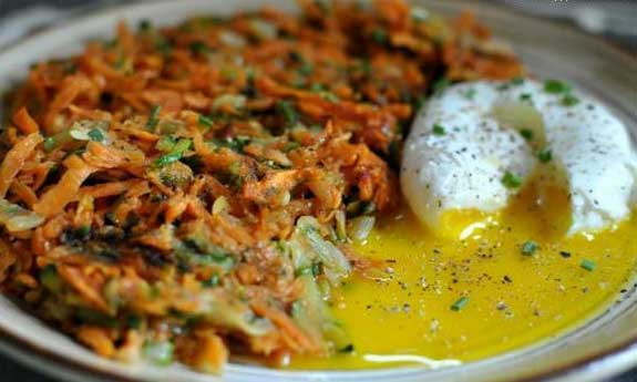 zucchini sweet potato hash