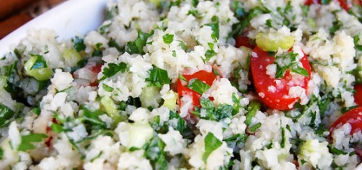 Low Carb Cauliflower Tabbouleh- this makes a great healthy side dish or quick lunch.