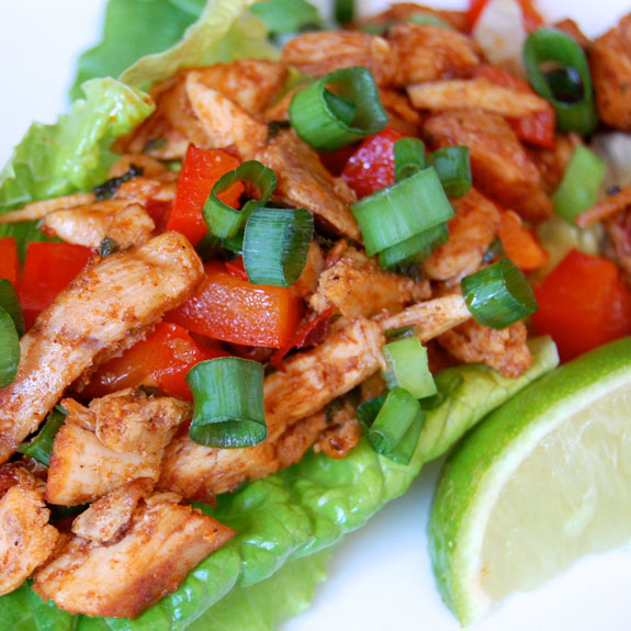 Low Carb Chipotle Chicken Lettuce Wraps | Paleo Grubs