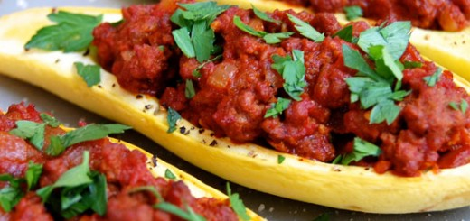 Stuffed Yellow Squash- makes a delicious simple and wholesome dinner (and great leftovers!)
