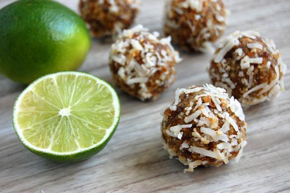 coconut lime energy bites