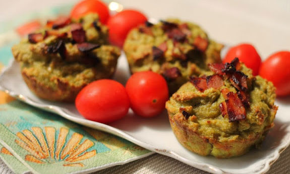 paleo avocado and bacon muffins