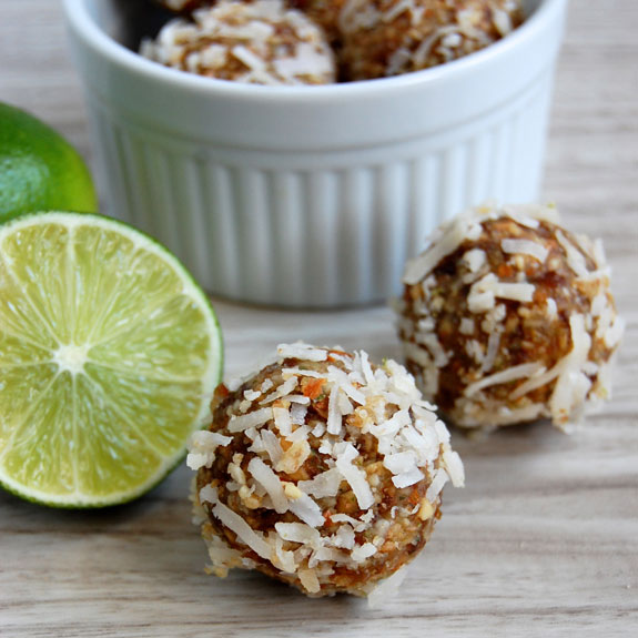 Coconut Lime Energy Bites- once you try one you won't be able to stop! Packed with protein, vitamins and fulfills all sweet cravings.