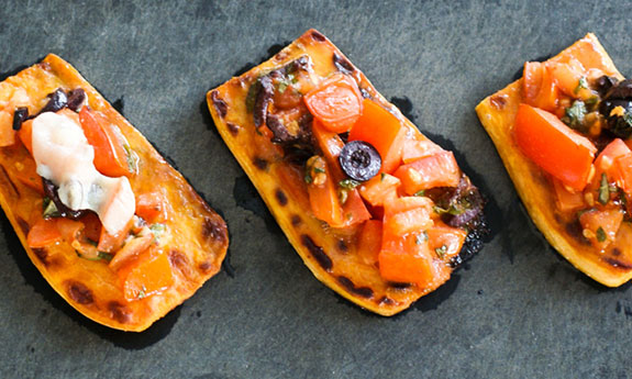 sweet potato paleo bruschetta