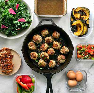 Cast Iton Skillet Paleo Turkey Meatballs