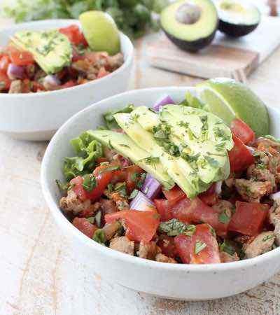 Whole30 Turkey Taco Salad