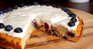 blueberry paleo cake