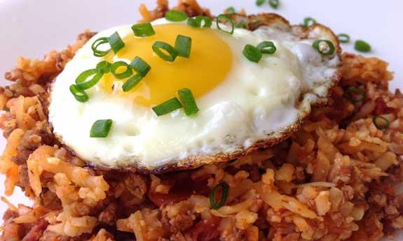 chorizo cauliflower fried rice