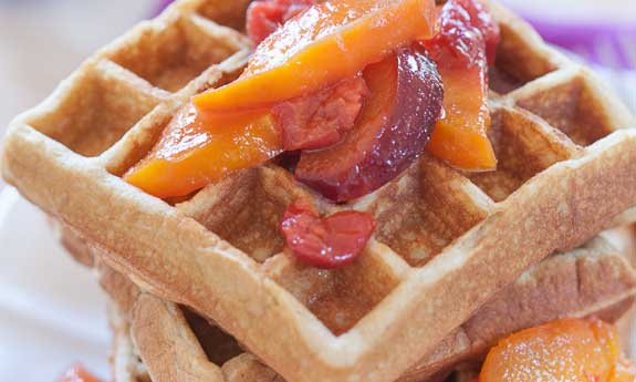gluten-free macadamia waffles