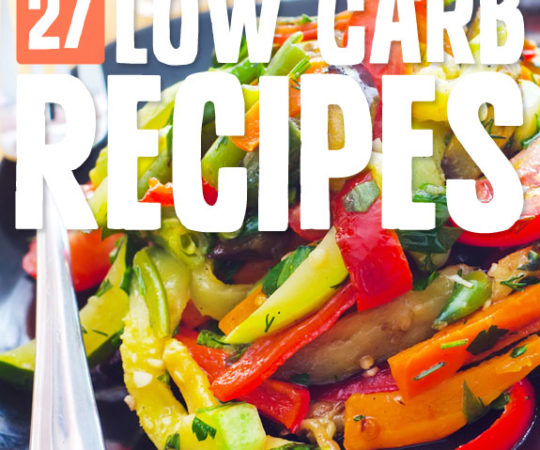 27 Low Carb Recipes (Paleo, Grain-Free & Gluten-Free)- an awesome list if you're looking for super healthy, low carb meal ideas.