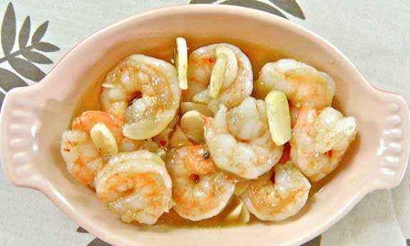 sizzling garlic shrimp
