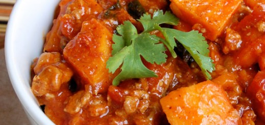 Stovetop Sweet Potato, Kale and Turkey Chili- this is a soul-satisfying & comforting dish.