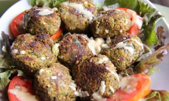 Almond Meal and Zucchini Falafels