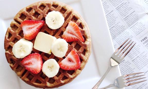 Nut-Free Sunbutter Banana Waffles