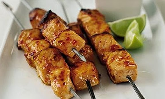 Paleo Thai Food Fish Skewers