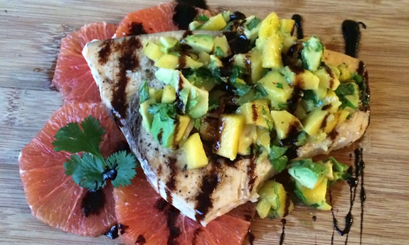 Wild Swordfish and Mango Avocado Salsa
