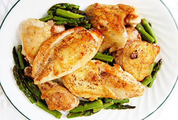 hoisin sauce roast chicken with asparagus and tahini sauce recipes ...