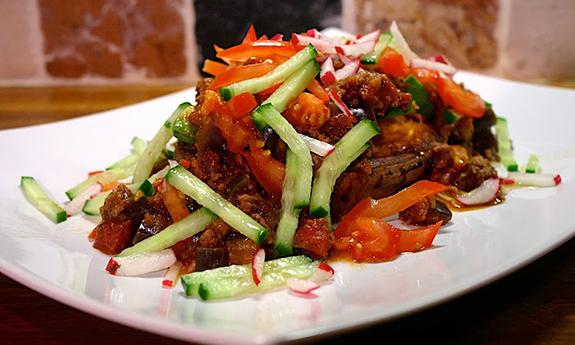 Aubergine Turkey Chilli Sweet Potato