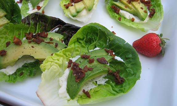 Bacon Avocado Lettuce Wraps