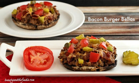 Bacon Burger Stuffed Bellas