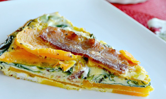 Bacon Butternut Squash Quiche