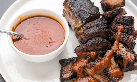 Barbecue Boneless Beef Short Ribs