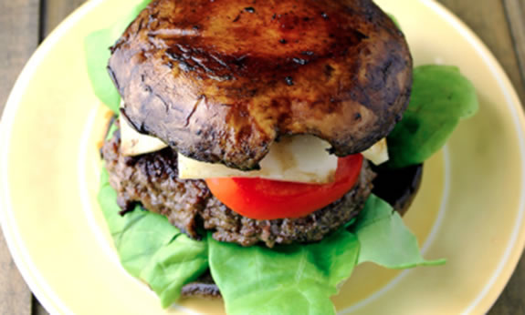 Bunless Portobello Burger