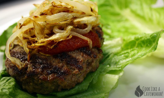 Cajun Burgers with Caramelized Onions (1)