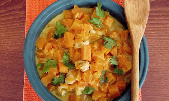Coconut Chicken Curry with Pumpkin and Sweet Potato