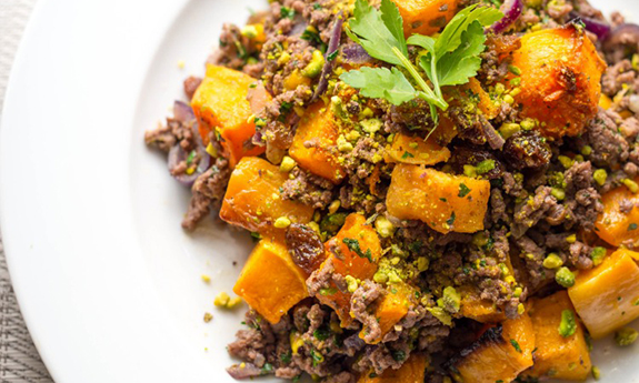 Grass-Fed Persian Spiced Beef and Butternut Squash
