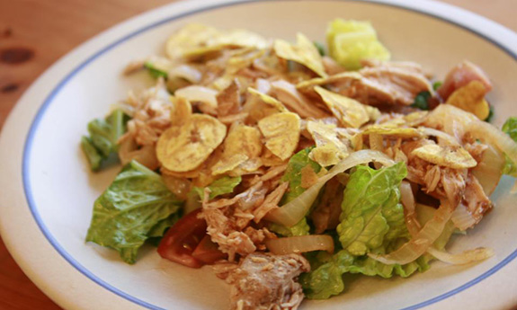 Green Chile Pork Taco-Salad