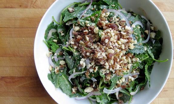 Kale Salad with Hazelnuts, Dates, and Orange
