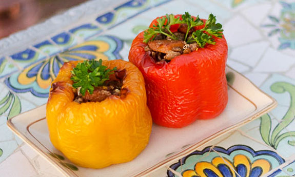 Paleo Juicy Stuffed Peppers