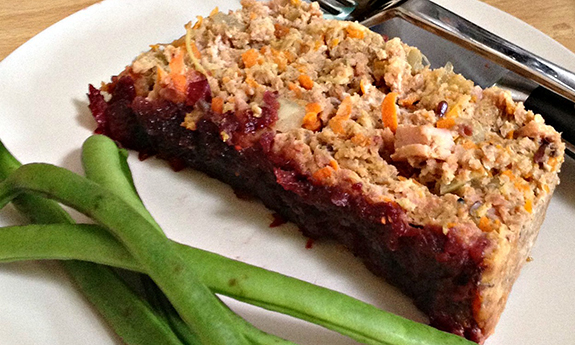 Paleo Turkey Meatloaf with a Spiced Cranberry Glaze