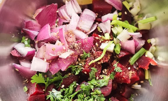 Simple Indian Beetroot Salad