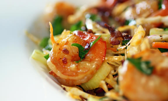 Spring Slaw with Smoked Shrimp