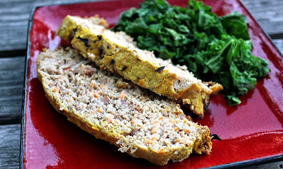 Sweet Potato & Bacon Turkey Meatloaf