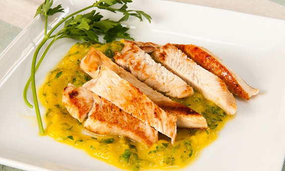 Turkey Escalopes with Pepper Sauce