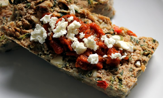 Turkey Meatloaf with Spinach