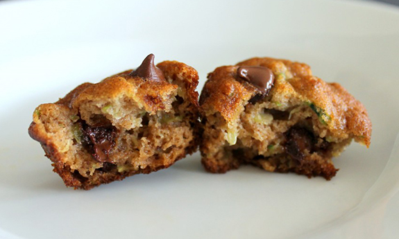 Zucchini Chocolate Chip Mini Muffins
