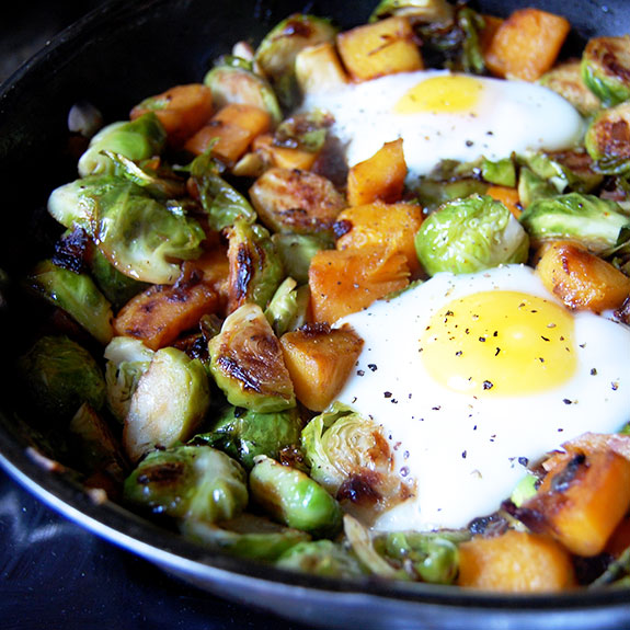 Down-Home Brussels Sprout Hash- one of my favorite breakfasts!