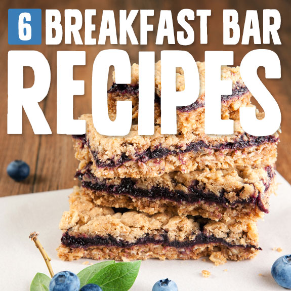 6 Breakfast Bar Recipes- for long-lasting energy.