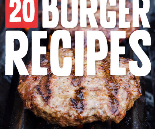 20 Burger Recipes- that everyone will love!