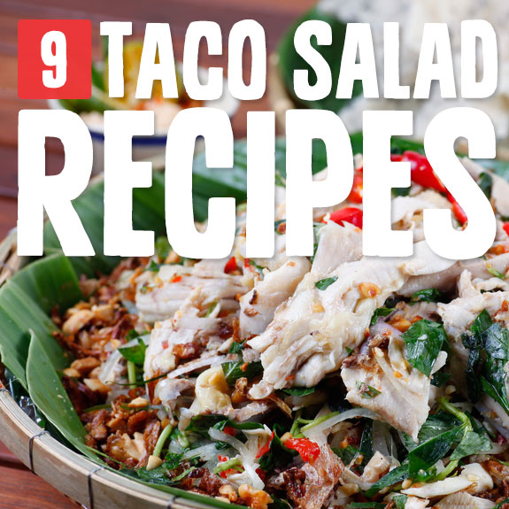 9 Healthier Taco Salads- without deep-fried bowls.