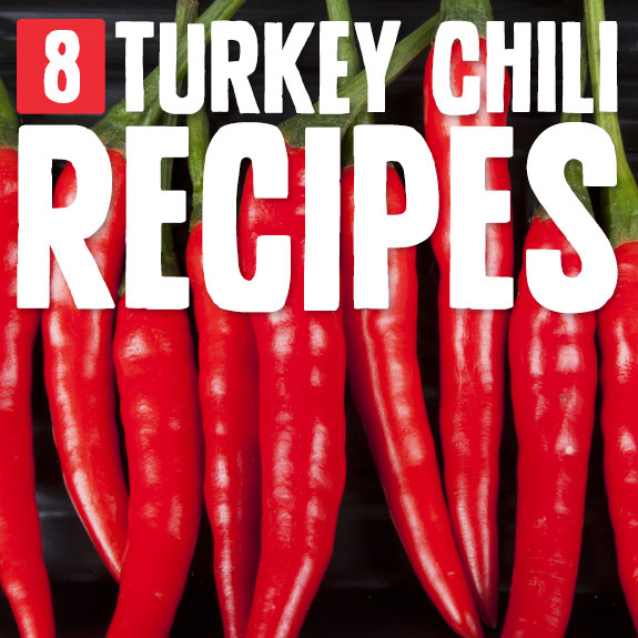 8 Comforting Turkey Chili Recipes- healthier than beef chili and even more delicious (in my opinion).